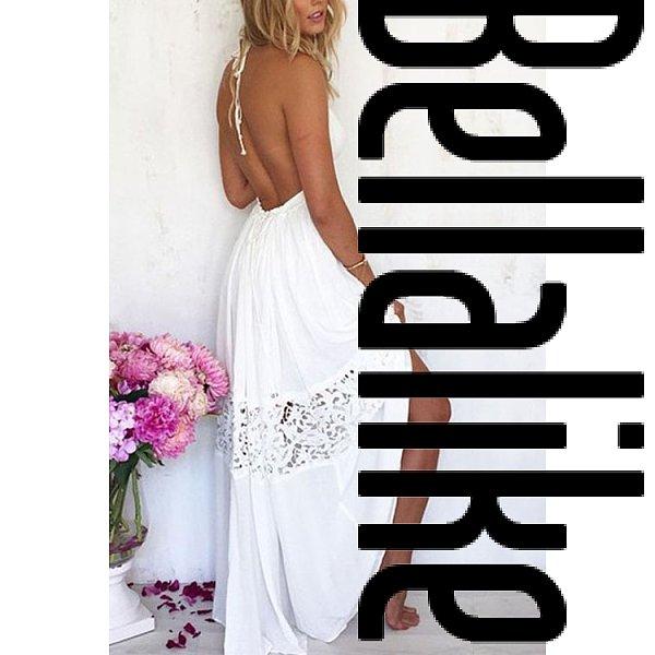 Deep V Neck Backless Cutout Lace Plain Sleeveless Backless Dresses