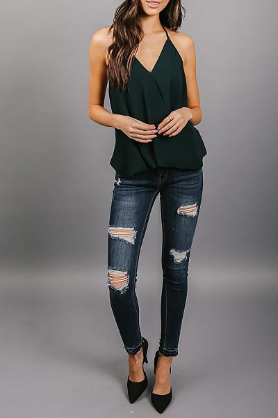 Halter  Backless  Plain Camis