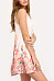 Round Neck  Floral  Sleeveless Casual Dresses
