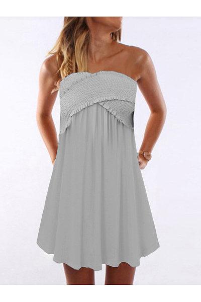 Casual Crossover Ruffled Dress