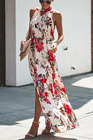 2019 Summer New Print Sleeveless Large Dress