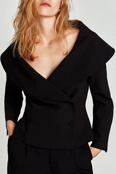 Lapel  Double Breasted Outerwear