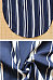 V Neck  Asymmetric Hem  Belt  Striped Casual Dresses