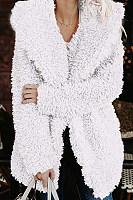 Hooded  Plain Basic  Teddy Outerwear