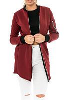 Band Collar  Zipper  Patchwork Jackets
