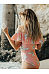 Open Shoulder  Flounce  Printed One Piece