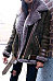 Faux Fur Collar Lapel  Zipper  Plain Coats