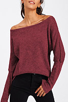Off Shoulder  Plain  Elegant Sweaters