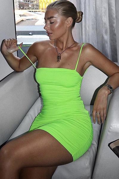 Plain Color Sleeveless Bodycon Dresses