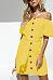 Off Shoulder  Single Breasted  Belt  Plain  Short Sleeve Casual Dresses