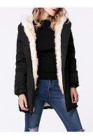Hooded Drawstring Padded Coat