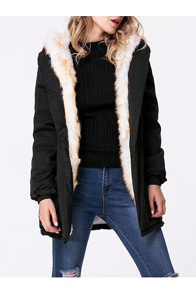 Hooded Drawstring Padded Coat