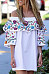 Open Shoulder  Cascading Ruffles  Printed  Cape Sleeve  Short Sleeve Casual Dresses