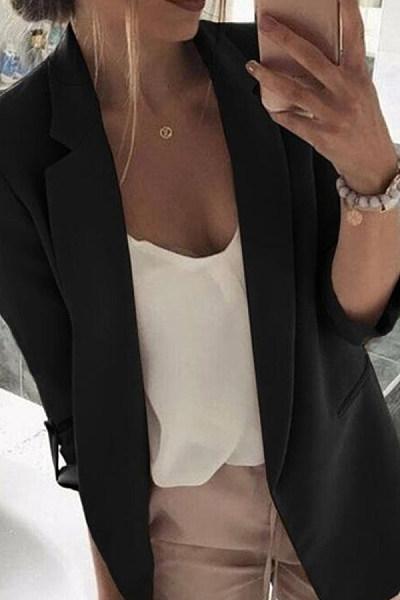 Women Plain Color Blazers