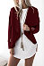 Fashion Lapel  Plain Jackets
