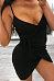 Spaghetti Strap  Asymmetric Hem  Belt  Plain  Sleeveless Bodycon Dresses
