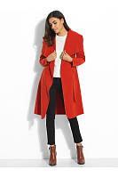 Lapel Bowknot Pockets Plain Coat
