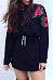 Round Neck  Patchwork  Embroidery Sweatshirts