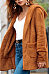 Hooded  Loose Fitting  Plain  Teddy  Outerwear