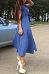 Turn Down Collar  Single Breasted  Belt  Plain  Short Sleeve Maxi Dresses