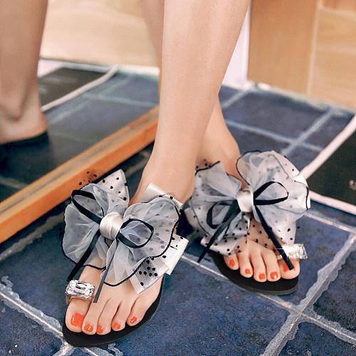 Faux Leather Beach Plain Sandals