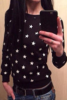 Round Neck  Star T-Shirts