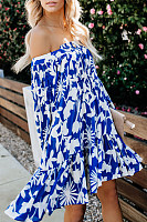 Fashion New One-Shoulder Print Dress