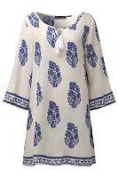 Round Neck  Printed  Three Quarter Sleeve Casual Dresses