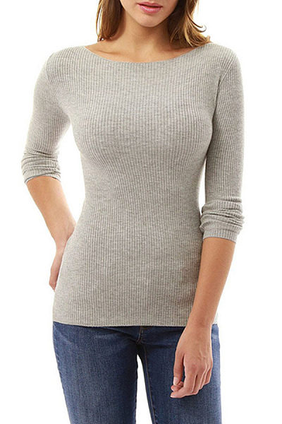 Round Neck  Backless T-Shirts