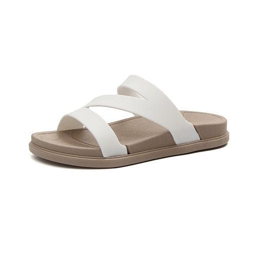 Casual Peep Toe Flat Sandals
