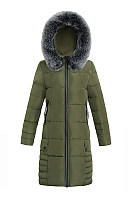 Hooded Zips Pocket Quilted Longline Plain Padded Coat