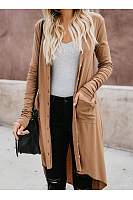 Single-Breasted Cardigan Long-Sleeve Button Cardigans