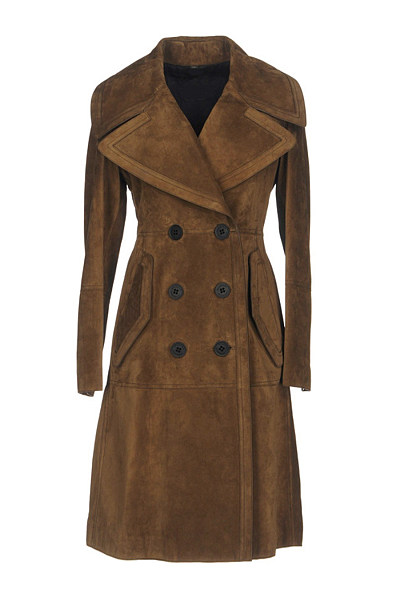 Lapel Solid Double Breasted Flap Pocket Longline Coat