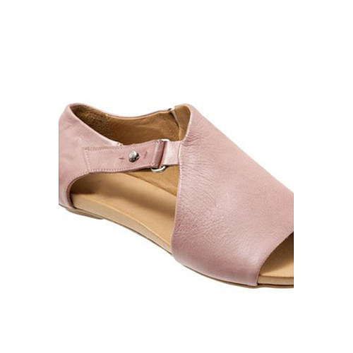 Plain  Flat  Peep Toe  Date Outdoor Flat Sandals