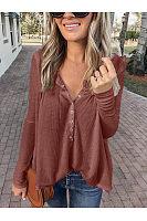 Women Stylish Casual V Neck Loose T-Shirts