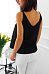 Round Neck  Asymmetric Hem Lace Up  Plain  Vests