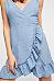 Spaghetti Strap  Backless  Belt  Dot  Sleeveless Casual Dresses