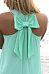 Round Neck  Bowknot  Plain  Sleeveless Casual Dresses