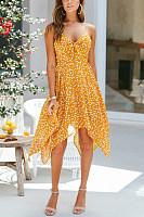 V Neck  Backless  Sleeveless Maxi Dresses