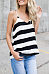 V Neck  Loose Fitting  Striped Camis