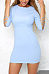 Round Neck  Backless Cross Straps  Hollow Out Plain Bodycon Dresses