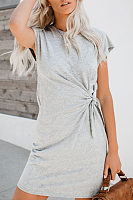 Round Neck Loose Slim Strap T-Shirt Dress