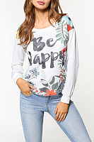 Round Neck  Letters Printed Sweatshirts
