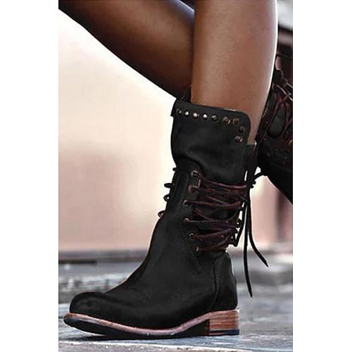 Mid Calf  Plain Boots