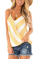 Spaghetti Strap  Loose Fitting  Stripes Camis