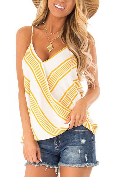 Spaghetti Strap  Loose Fitting  Stripes Camis