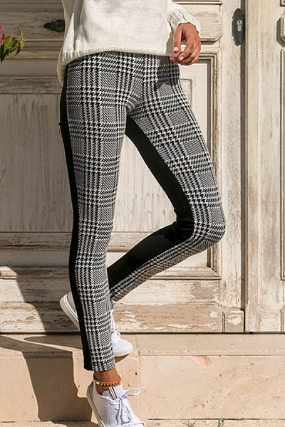 Long  Basic  Gingham   Pants