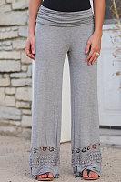 Long Fitted Cutout  Plain Pants