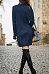 Cowl Neck  Plain  Long Sleeve Casual Dresses