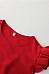 Crew Neck  Flounce  Plain  Petal Sleeve  Extra Short Sleeve Casual Dresses